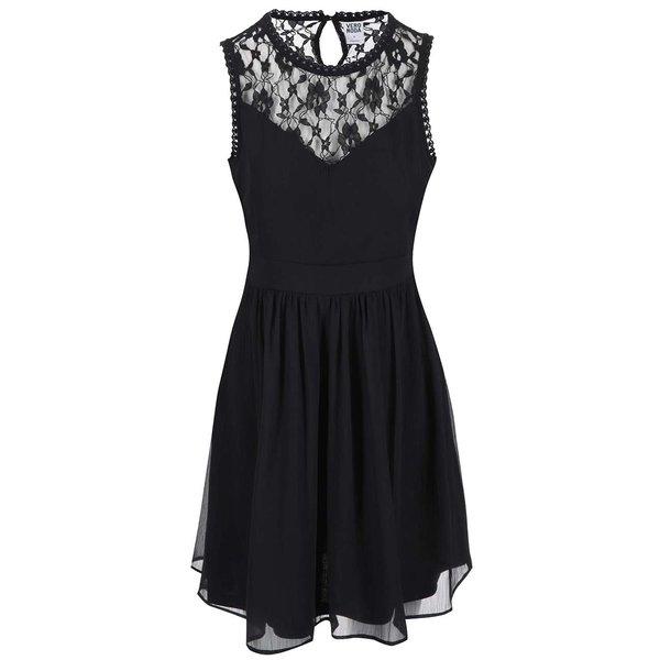 Rochie neagră cu detalii de dantelă VERO MODA Aya de la VERO MODA in categoria rochii de seară