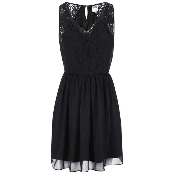 Rochie neagră din dantelă VERO MODA Freja de la VERO MODA in categoria rochii de vară și de plajă