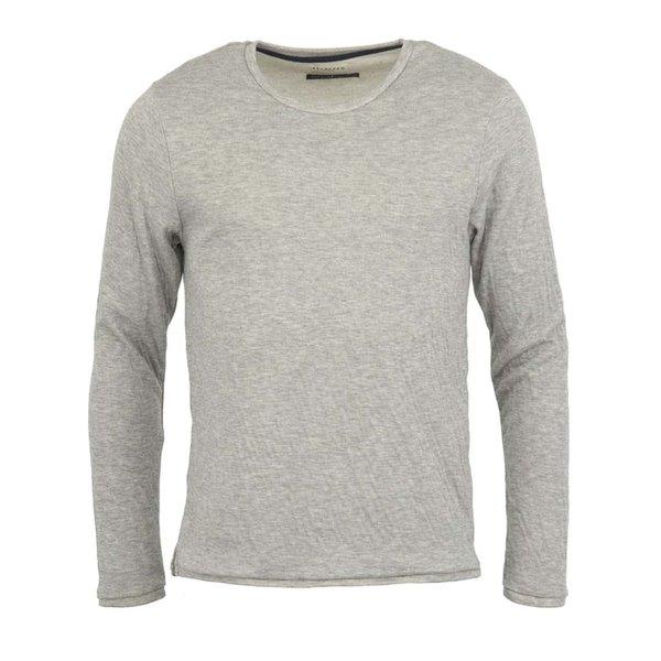 Bluză sport gri deschis cu mânecă lungă Lang Crew de la Selected