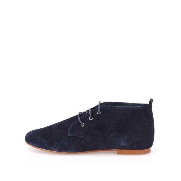 Pantofi Oxford bleumarin din piele întoarsă OJJU