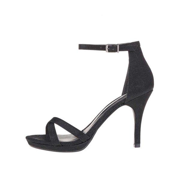 Sandale negre strălucitoare cu toc înalt Tamaris de la Tamaris in categoria pantofi cu toc