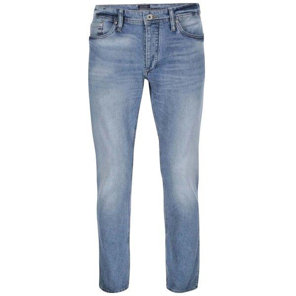 Jeanşi albastru deschis cu aspect prespălat Jack & Jones Mike