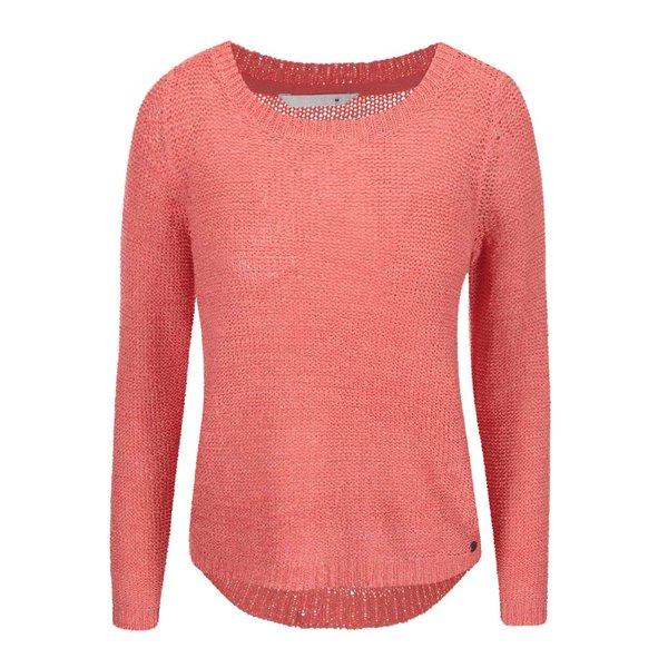 Pulover roz tricotat ONLY Geena cu decolteu rotund de la ONLY in categoria Pulovere și hanorace