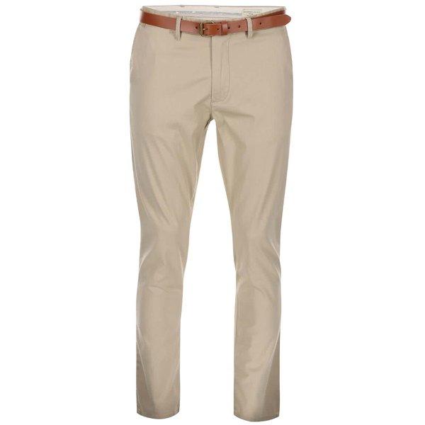 Pantaloni chino bej slim fit Selected Homme Yard
