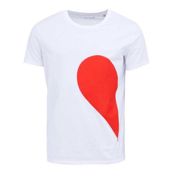Tricou alb ZOOT Original His Side of the Heart din bumbac de la ZOOT Original in categoria Tricouri și bluze