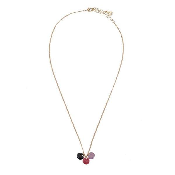Colier auriu cu pandant colorat Pieces Tress de la Pieces in categoria Ceasuri și bijuterii