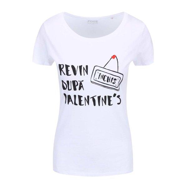 Tricou alb cu print text pentru femei ZOOT Original