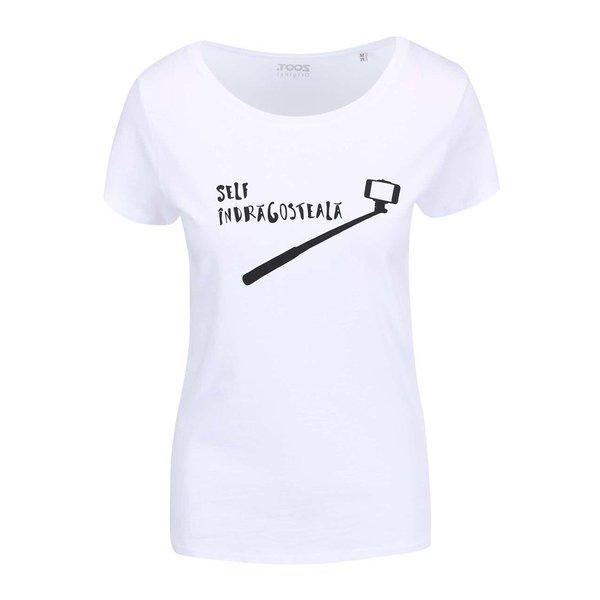 """Tricou alb pentru femei ZOOT Original """"Self-Îndrăgosteala"""