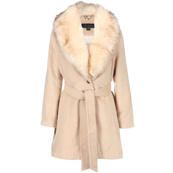 Palton crem din imitație de blană LIPSY