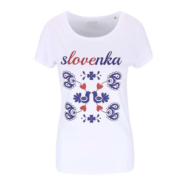 Tricou de damă ZOOT Originál Slovak Girl alb