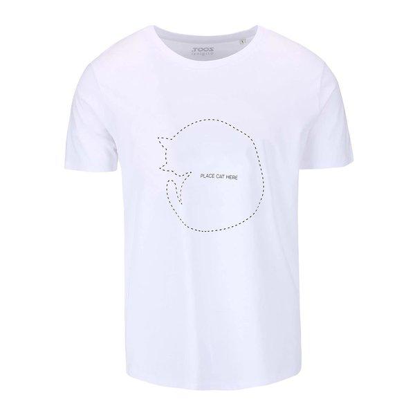 Tricou alb cu print pentru barbati - ZOOT Original