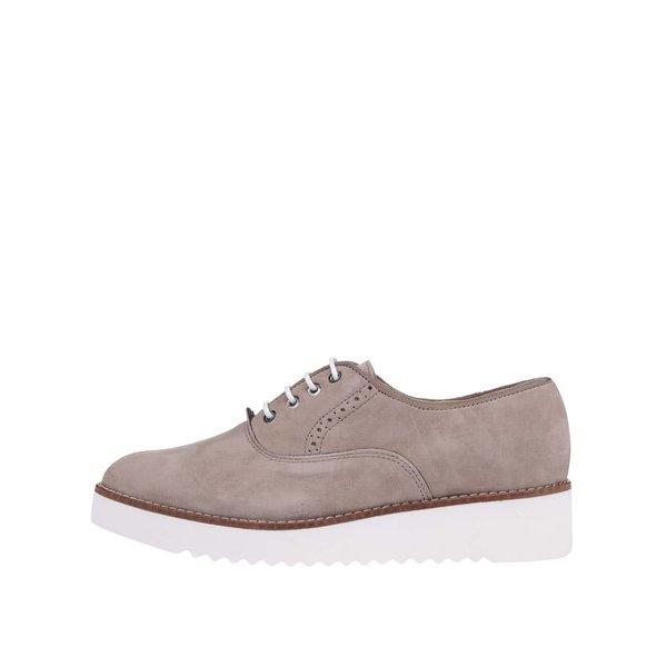 Pantofi OJJU bej din piele de la OJJU in categoria pantofi și mocasini