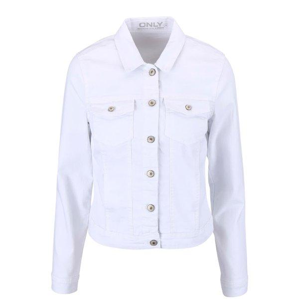 Jachetă albă crop din denim ONLY New