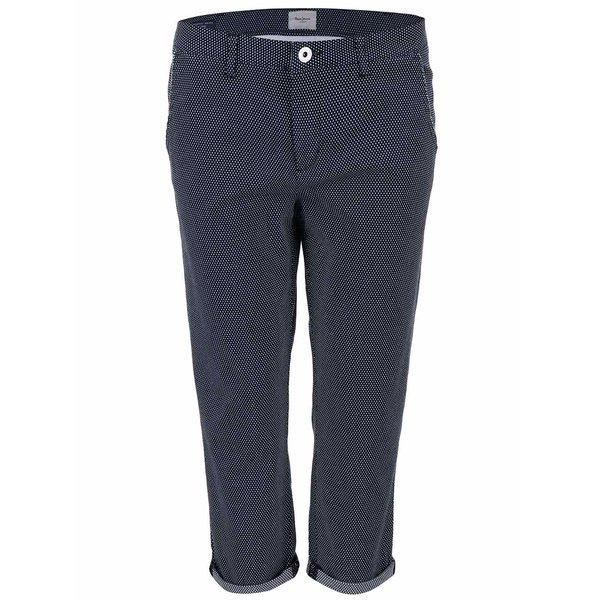 Pantaloni cu buline Pepe Jeans Nina navy de la Pepe Jeans in categoria Blugi, pantaloni, colanți