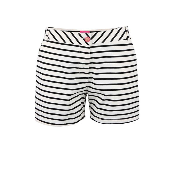 Pantaloni scurți de damă Tom Joule Brooke alb-negri