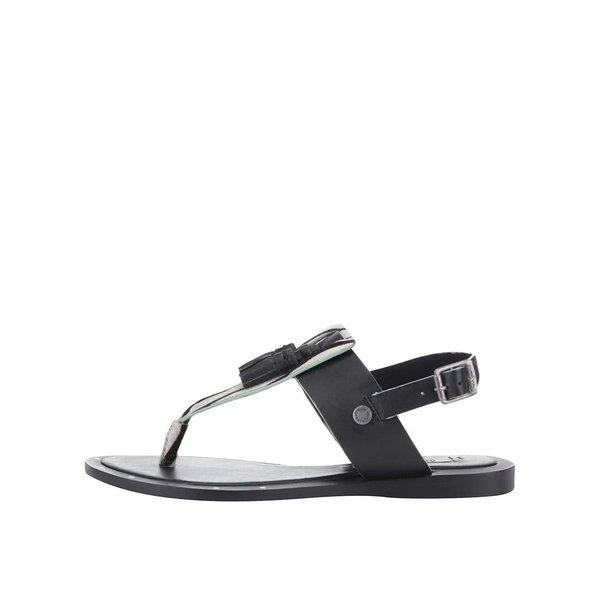 Sandale Pepe Jeans negre, cu print de la Pepe Jeans in categoria sandale