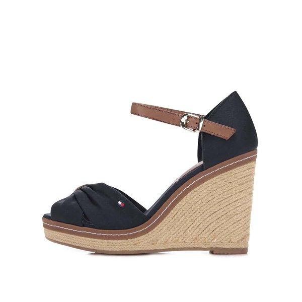 Sandale cu platforme Tommy Hilfiger albastre