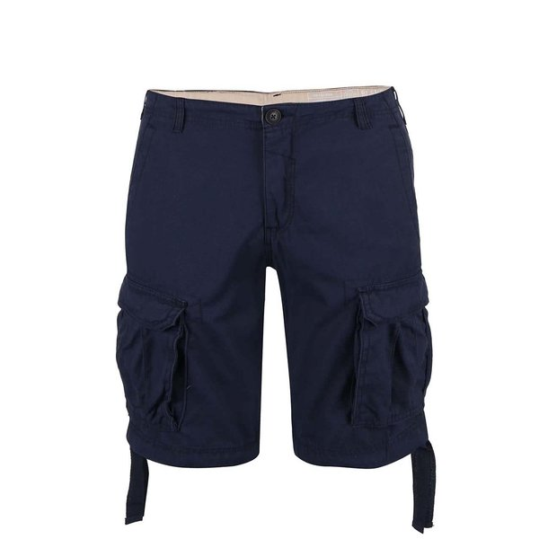 Pantaloni scurți Blend albastru închis cu buzunare