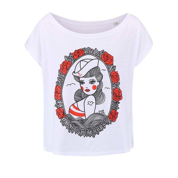 Tricou de damă ZOOT Original Pin Up alb de la ZOOT Original in categoria Topuri, tricouri, body-uri