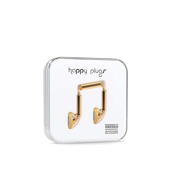 Căști Happy Plugs aurii
