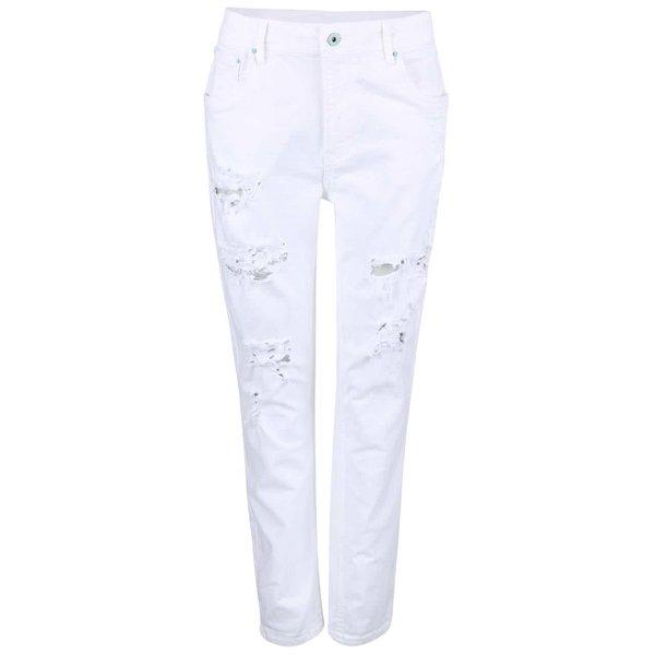 Blugi albi cu aspect uzat Pepe Jeans Vagabond de la Pepe Jeans in categoria Blugi, pantaloni, colanți