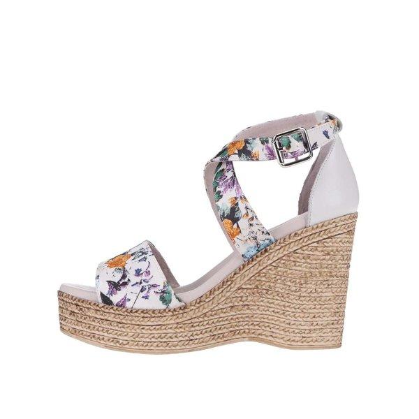 Sandale OJJU din piele cu platformă, crem cu model de la OJJU in categoria pantofi casual