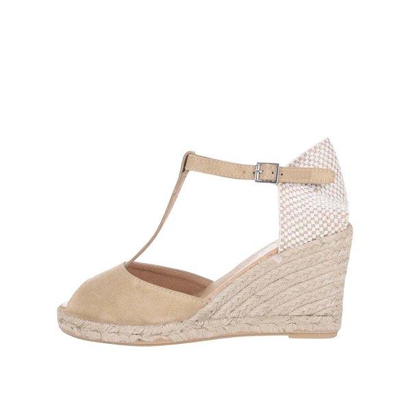 Sandale OJJU din piele întoarsă bej cu platformă de la OJJU in categoria pantofi cu platformă