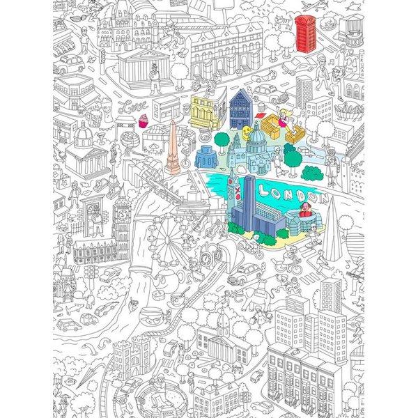 Poster de colorat London OMY de la OMY in categoria Copii