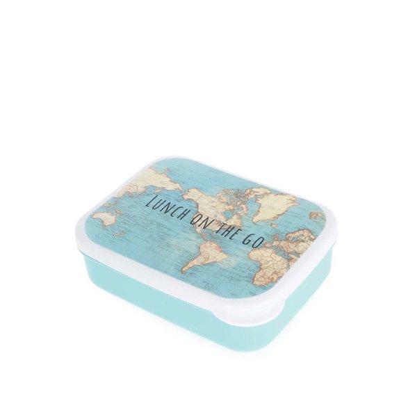 Caserolă albastră din plastic Sass & Belle cu print