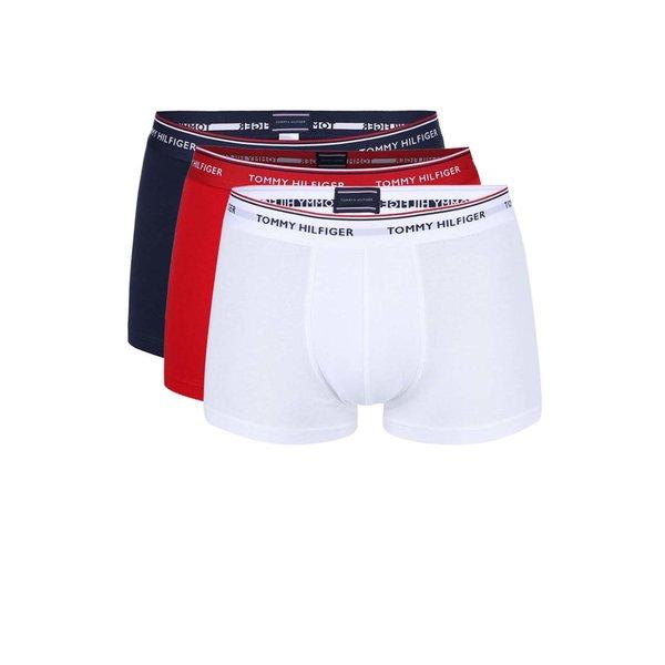 Set de 3 boxeri Tommy Hilfiger roșu-albastru-alb de la Tommy Hilfiger in categoria Lenjerie intimă, pijamale, șorturi de baie