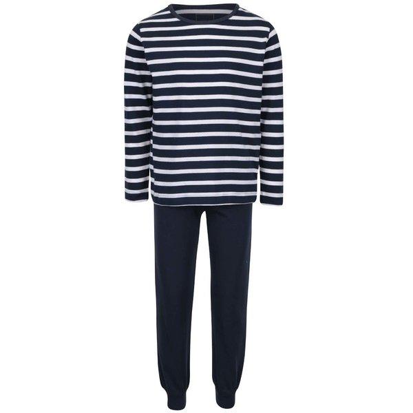 Pijamale de baieti name it Night cu dungi alb-albastre