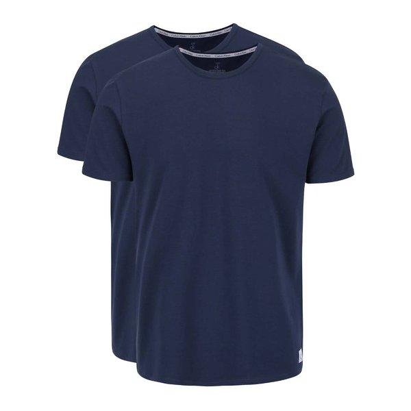 Set 2 tricouri albastru închis Calvin Klein slim fit pentru bărbați de la Calvin Klein in categoria Lenjerie intimă, pijamale, șorturi de baie
