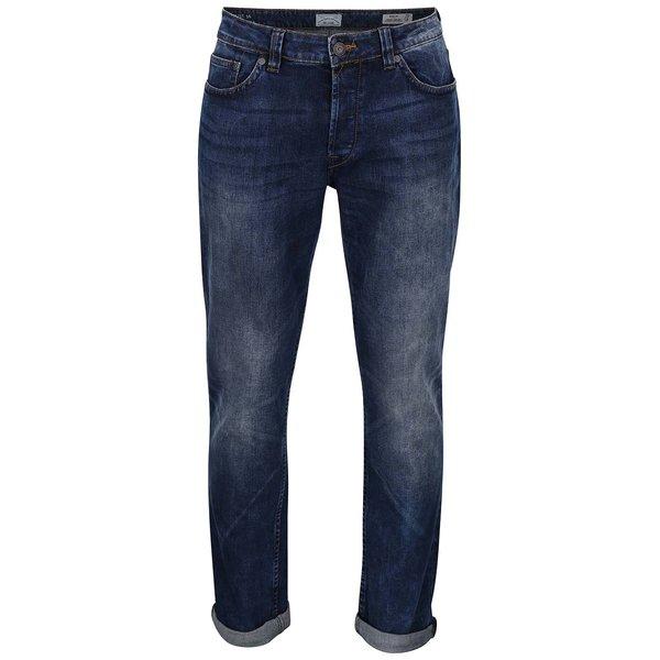 Blugi regular albastri cu aspect prespalat- ONLY & SONS Weft