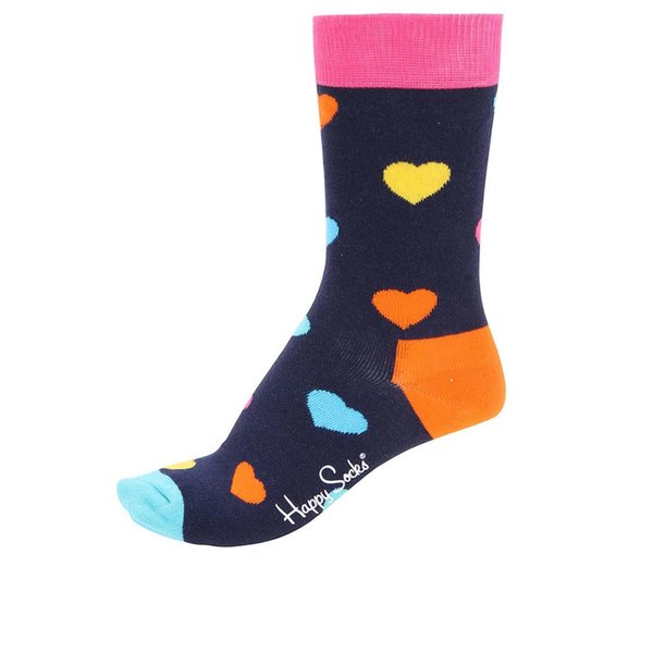Șosete multicolore unisex cu imprimeu Happy Socks Heart de la Happy Socks in categoria Dresuri si șosete
