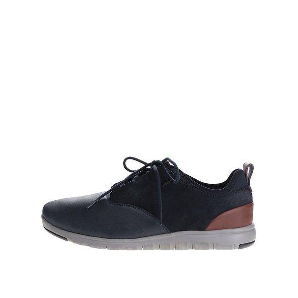 Pantofi sport bleumarin din piele întoarsă Geox Xunday de la Geox in categoria pantofi sport și teniși