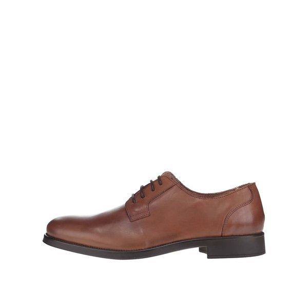 Pantofi maro din piele Selected Homme Oliver de la Selected Homme in categoria pantofi și mocasini