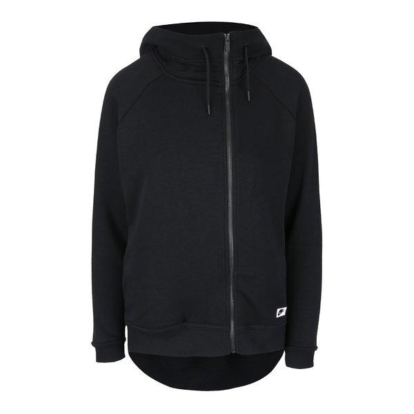 Hanorac negru Nike Modern Cape cu tiv asimetric de la Nike in categoria Pulovere și hanorace