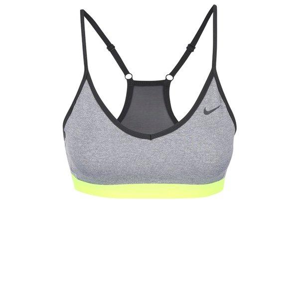 Bustier gri Nike Pro Indy cu inserție din plasă de la Nike in categoria Lenjerie intimă, pijamale, costume de baie