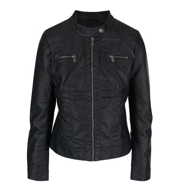 Jacheta biker neagra din piele sintetica pentru barbati – ONLY Bandit