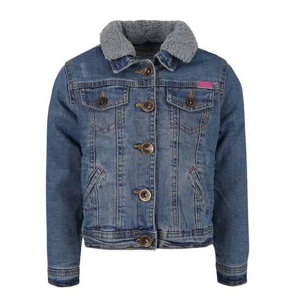 Jachetă din denim cu guler detașabil Boboli pentru fete de la BÓBOLI in categoria Geci, jachete, paltoane