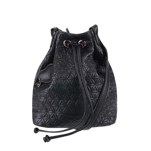 Geantă neagră tip sac Desigual Lugano Carlota