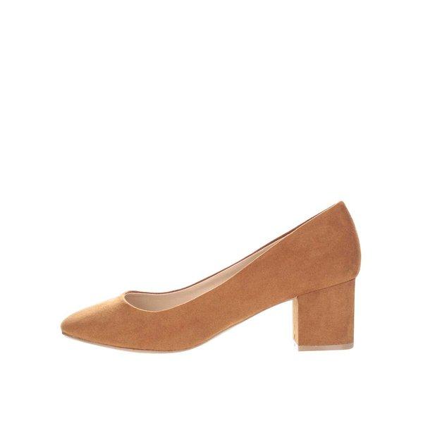 Pantofi maro Dorothy Perkins cu toc gros de la Dorothy Perkins in categoria pantofi cu toc