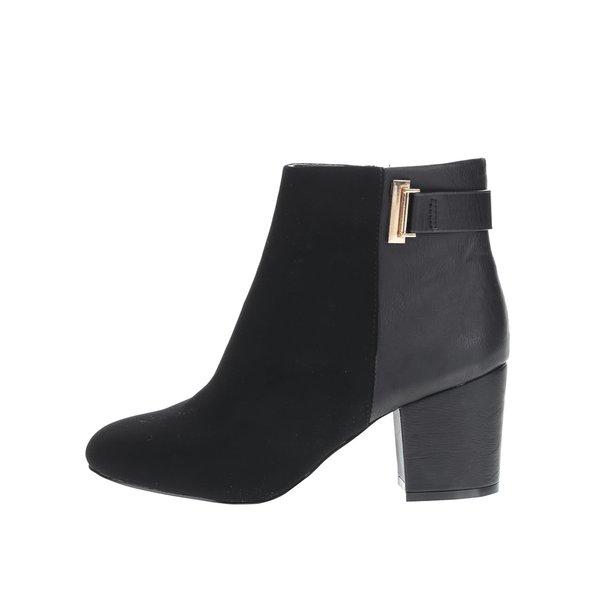 Botine negre Miss Selfridge Alessia cu toc gros de la Miss Selfridge in categoria pantofi cu toc