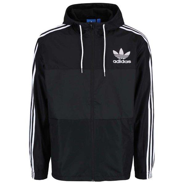 Jachetă subțire neagră Adidas Originals CLFN