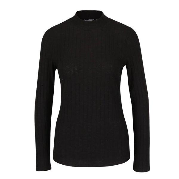 Bluză neagră cu nervuri ONLY Great Ripena