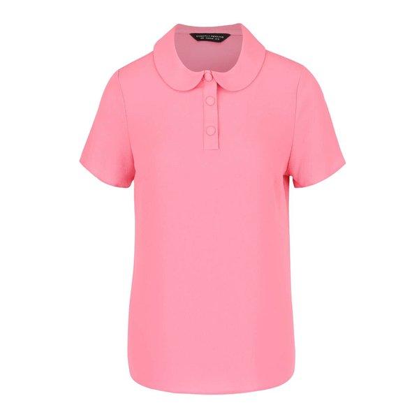 Bluză roz Dorothy Perkins cu guler Peter Pan