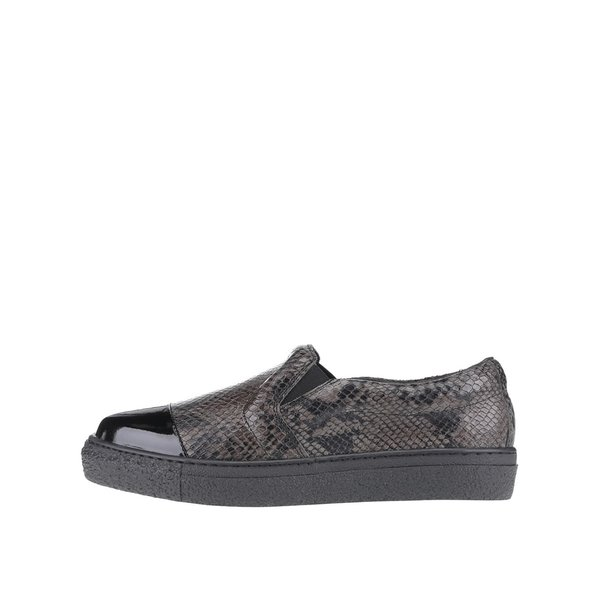 Pantofi loafer din piele OJJU Forty cu vârf lăcuit