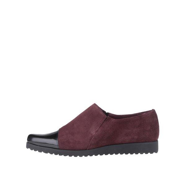 Pantofi loafer OJJU vișii din piele întoarsă de la OJJU in categoria pantofi și mocasini
