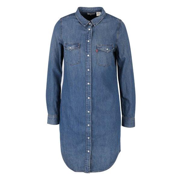 Rochie cămașă din denim Levis® cu mâneci lungi