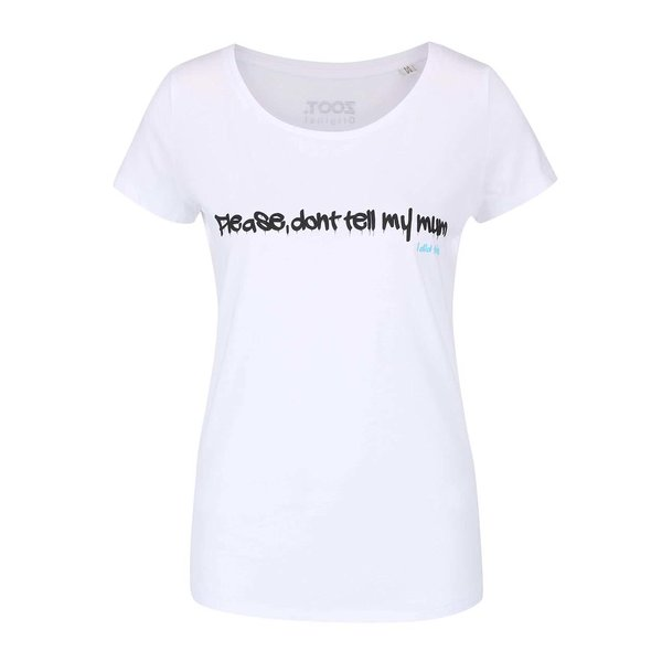 Tricou gri cu print text ZOOT Original Please Don´t pentru femei
